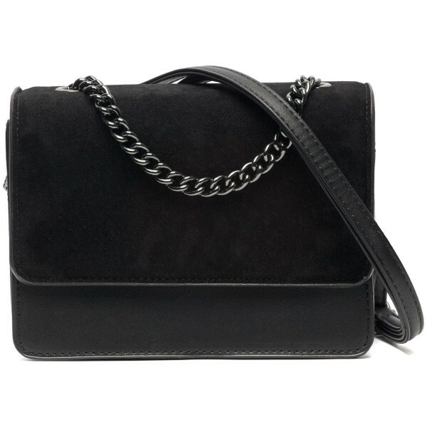 SOFT BLACK FOLDOVER BAG