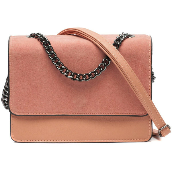 SOFT PINK FOLDOVER BAG