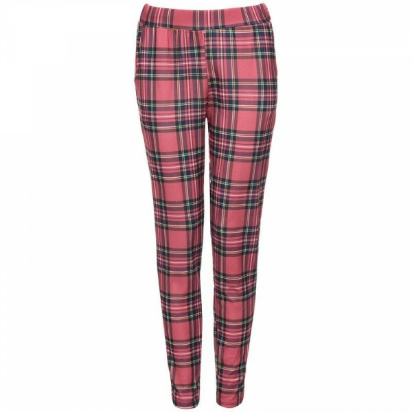 CHECKED LEGGINGS RED