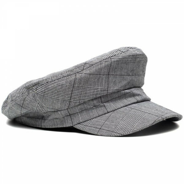 CHECKED BAKER BOY CAP