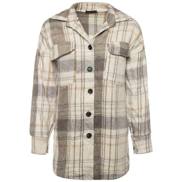 CHECKERED JACKET BEIGE