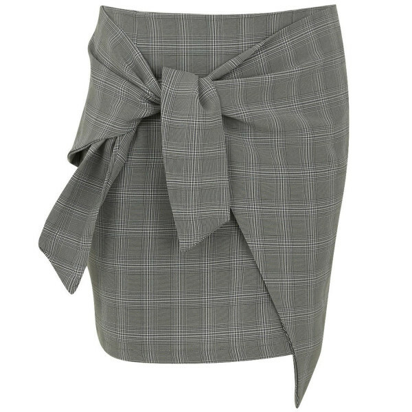 CHECKED 'N TIED MINI SKIRT