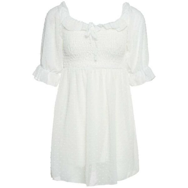 BARDOT CHIFFON DRESS WHITE