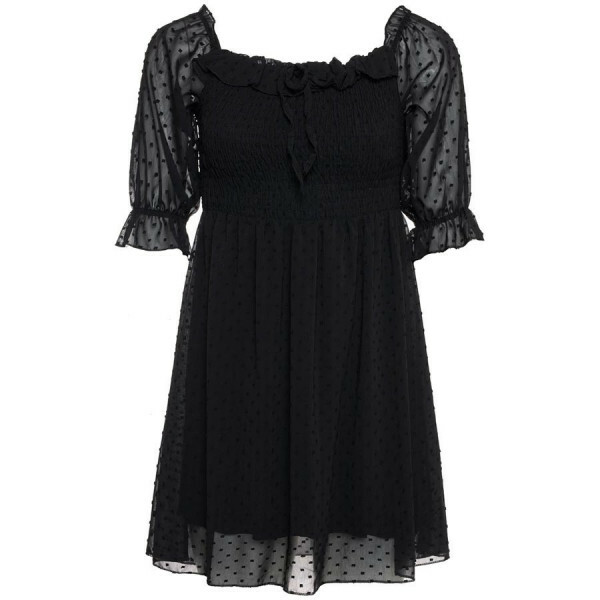 BARDOT CHIFFON DRESS BLACK