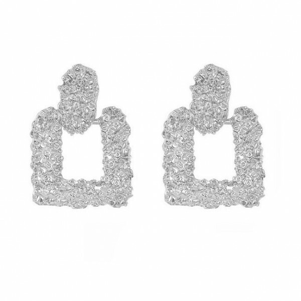CHUNKY EARRINGS SILVER II