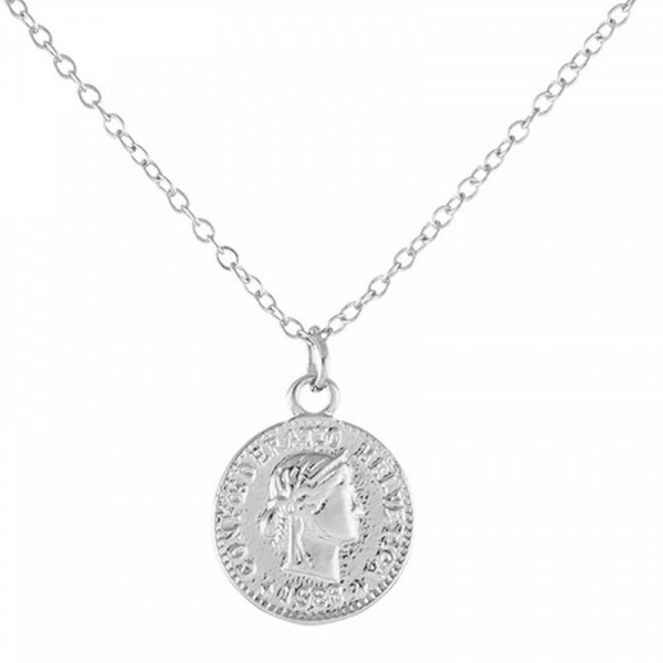 CUTE COIN NECKLACE SILVER