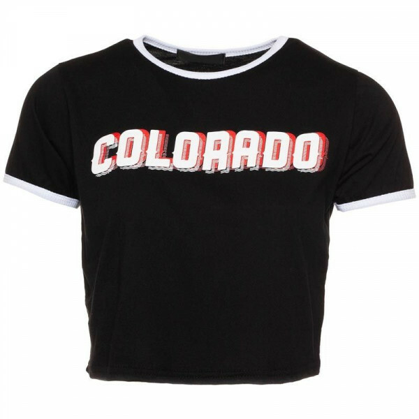 BLACK COLORADO CROP TOP