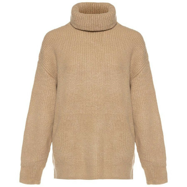 KNITTED COL SWEATER BEIGE