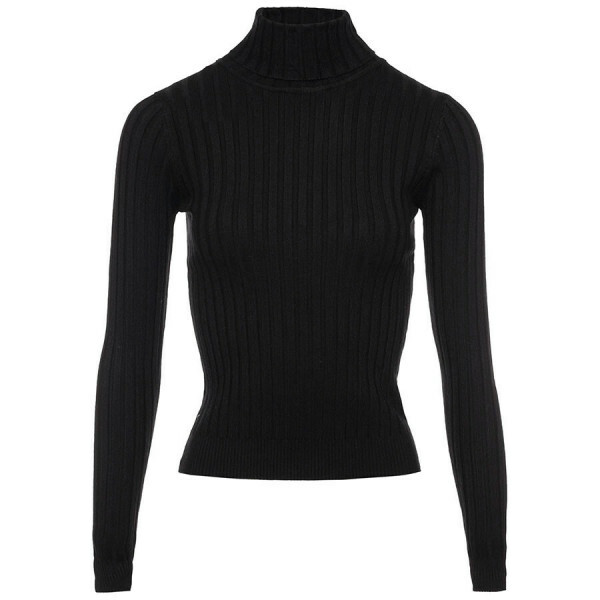 RIBBED TURTLENECK BLACK
