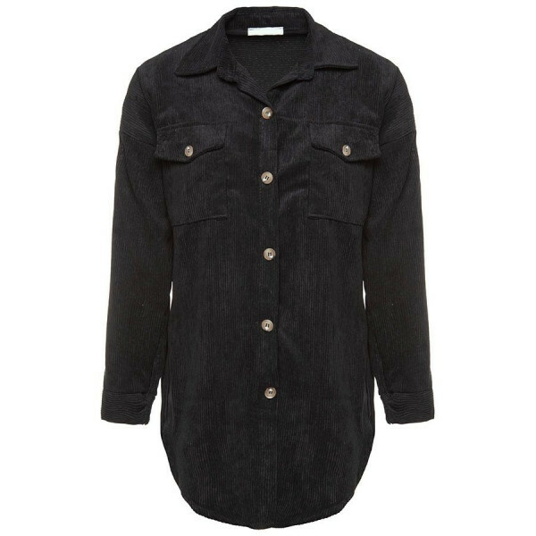 CORDUROY BLOUSE BLACK