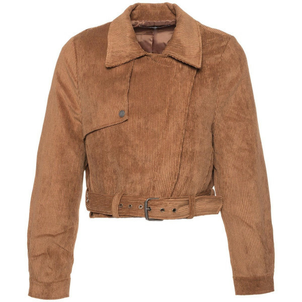 BROWN CORDUROY BIKER JACKET