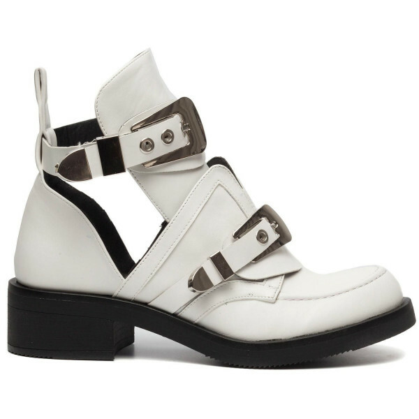 BUCKLE UP BOOTS WHITE