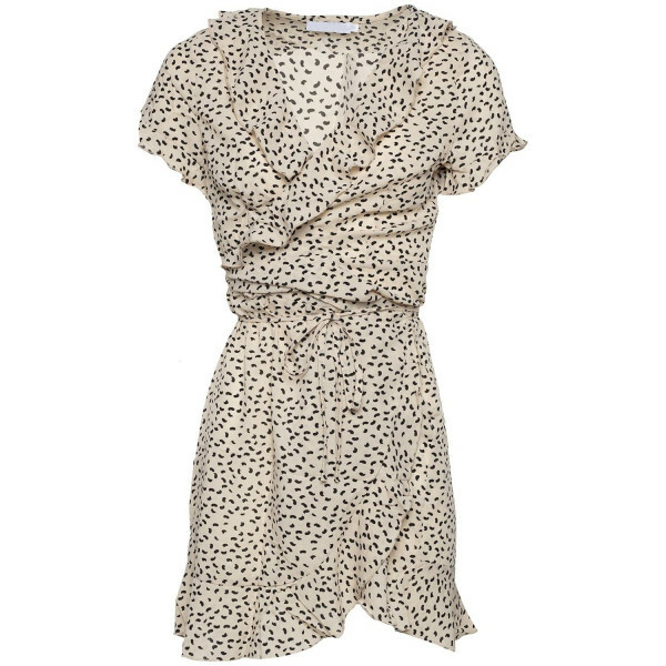 CUTEST DOT DRESS BEIGE