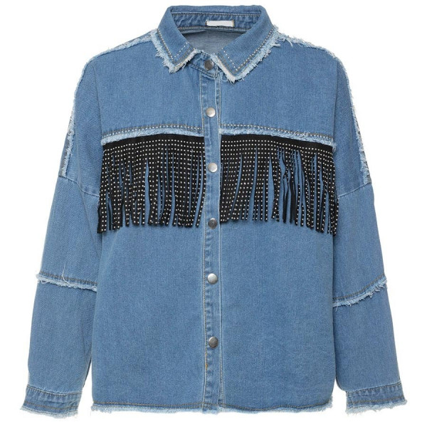 DENIM FRINGE JACKET