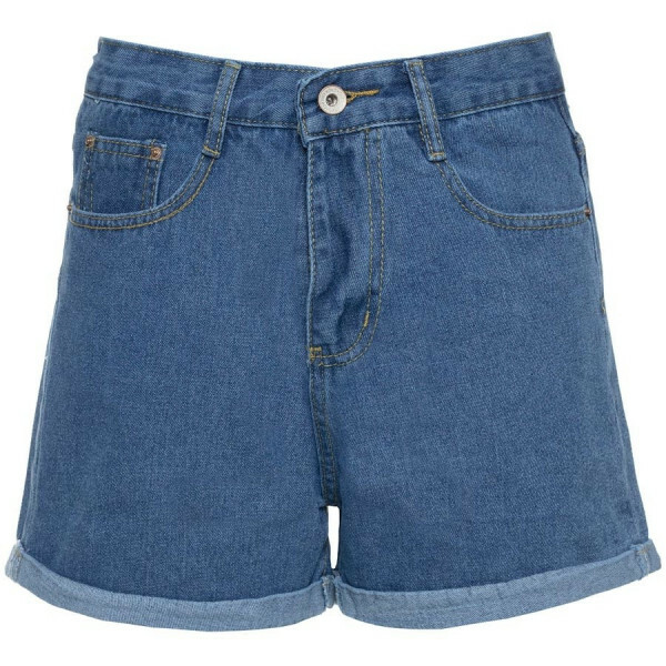 MOM JEANS SHORTS BLUE