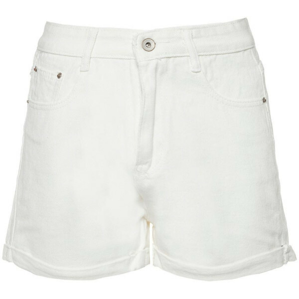 MOM JEANS SHORTS WHITE