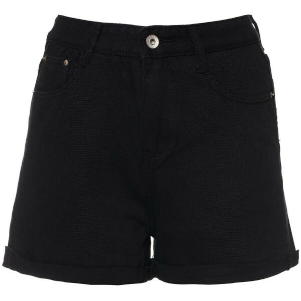 MOM JEANS SHORTS BLACK