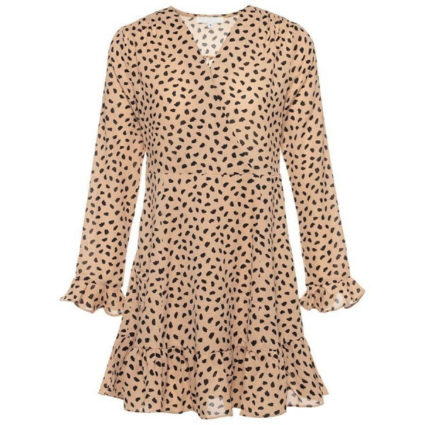 CHEETAH DRESS BEIGE
