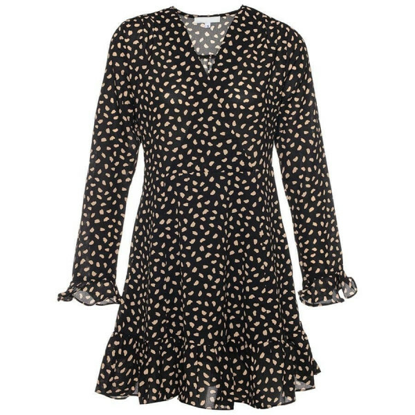 CHEETAH DRESS BLACK