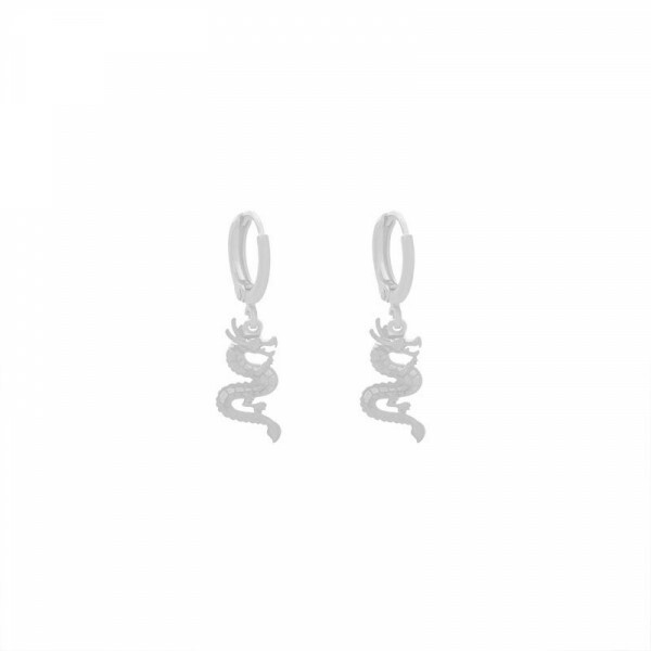 DRAGON EARRING SILVER
