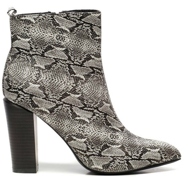 SNAKE ANKLE BOOTS GREY