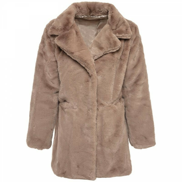 FURRY TEDDY COAT BROWN