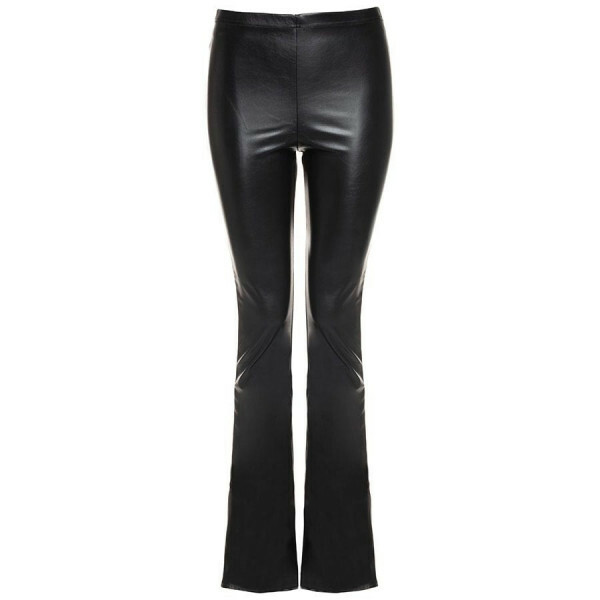 LEATHERLOOK FLARED LEGGING