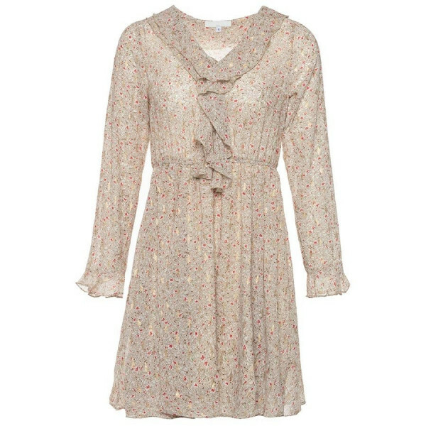 GOLDEN TOUCH FLOWER DRESS BEIGE