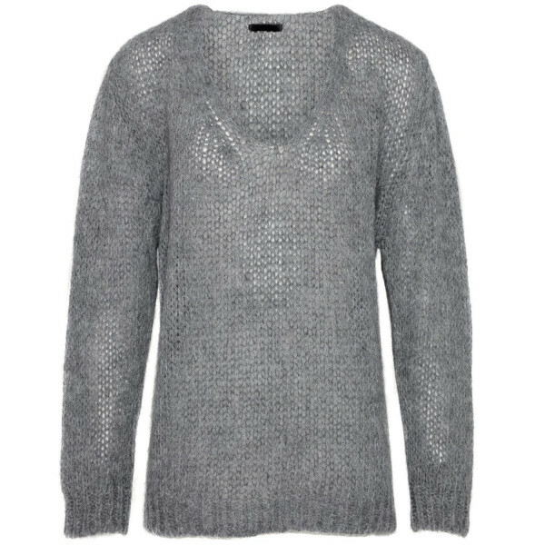 FLUFFY GREY KNIT