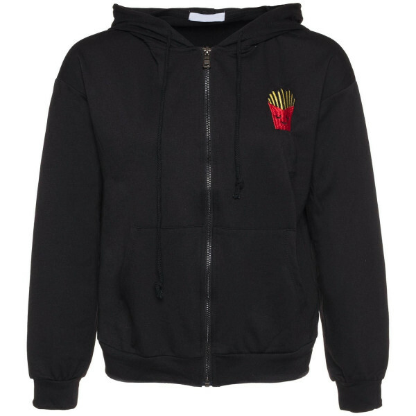 FRIES FOR LIFE HOODIE BLACK