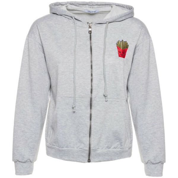 FRIES FOR LIFE HOODIE GREY