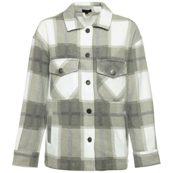 CHECKERED JACKET GREY