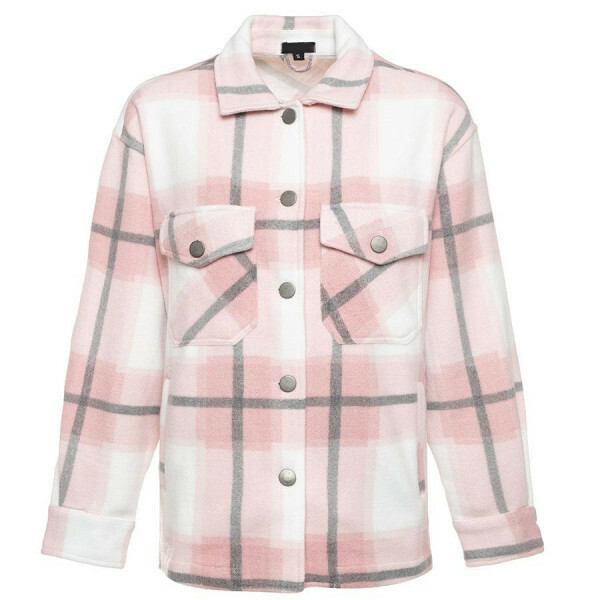 CHECKERED JACKET PINK