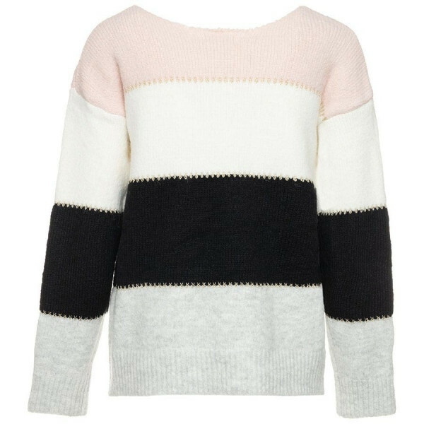 COLOR BLOCK SWEATER PINK