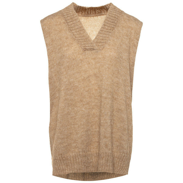 KNITTED GILET BEIGE