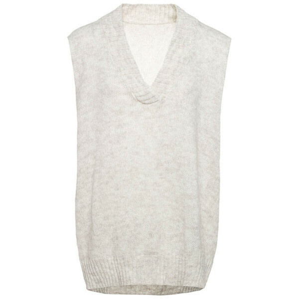 KNITTED GILET CREAM