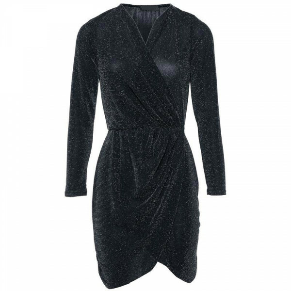 GLITZY WRAP DRESS