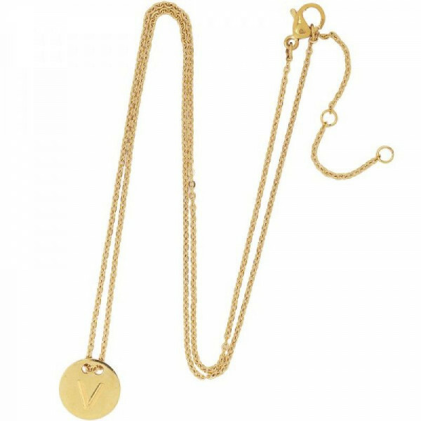 V-COIN NECKLACE GOLD