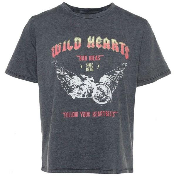WILD HEARTS TEE GREY