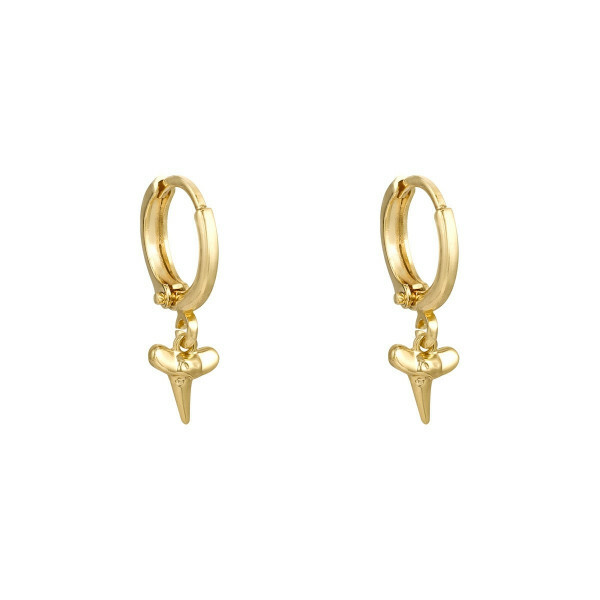 SHARK TOOTH EARRINGS GOLD