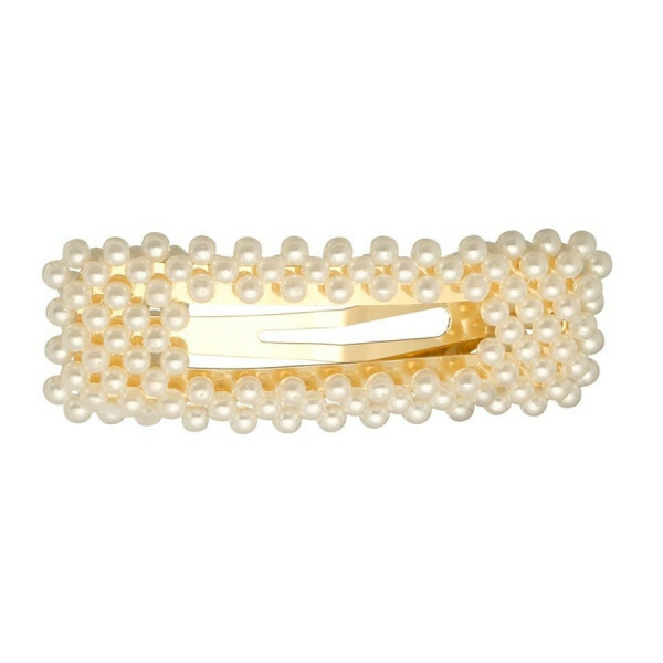 HAIR CLIP SQUARE PEARLY