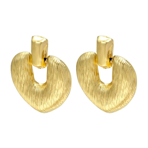 BIG HEARTS EARRINGS GOLD