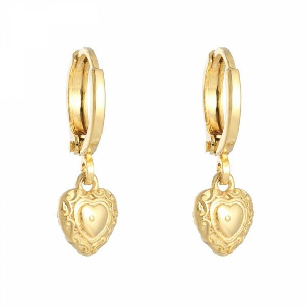 HEART EARRINGS GOLD