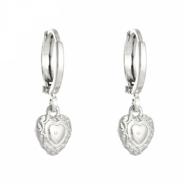 HEART EARRINGS SILVER