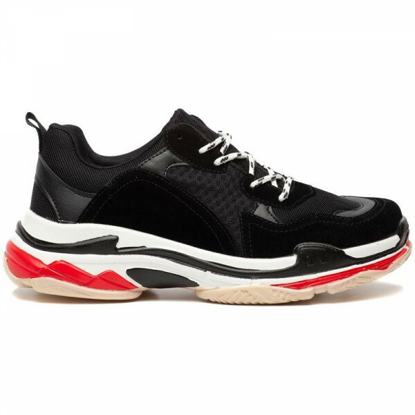 BLACK JUMP UP SNEAKERS