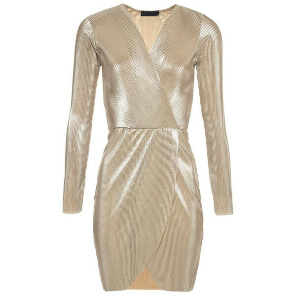 GOLDEN PLISSE DRESS