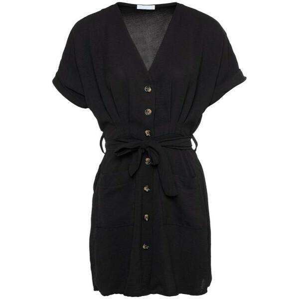 CUTEST BUTTON UP DRESS BLACK