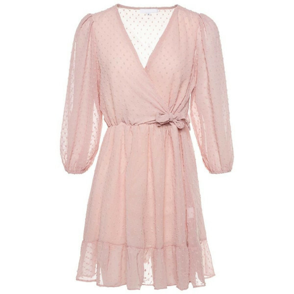 FLOWY DOT DRESS PINK