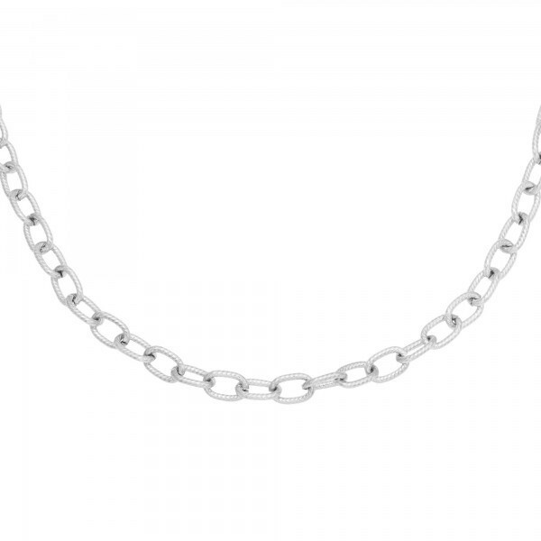 CHUNK CHAIN NECKLACE SILVER
