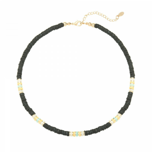 BEADS NECKLACE BLACK